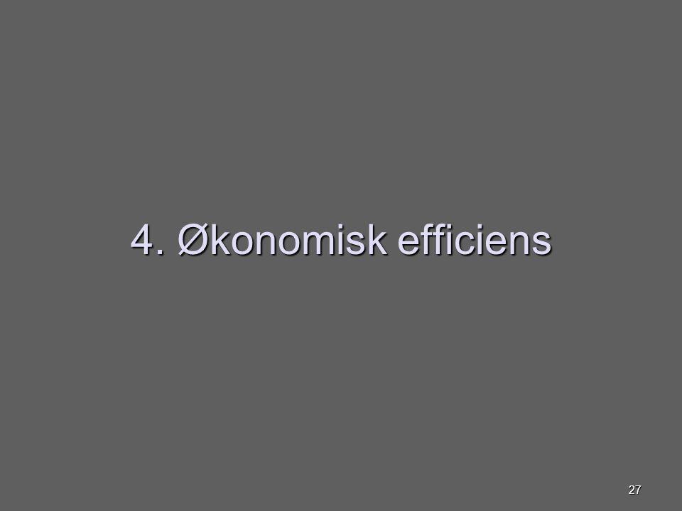 4. Økonomisk efficiens