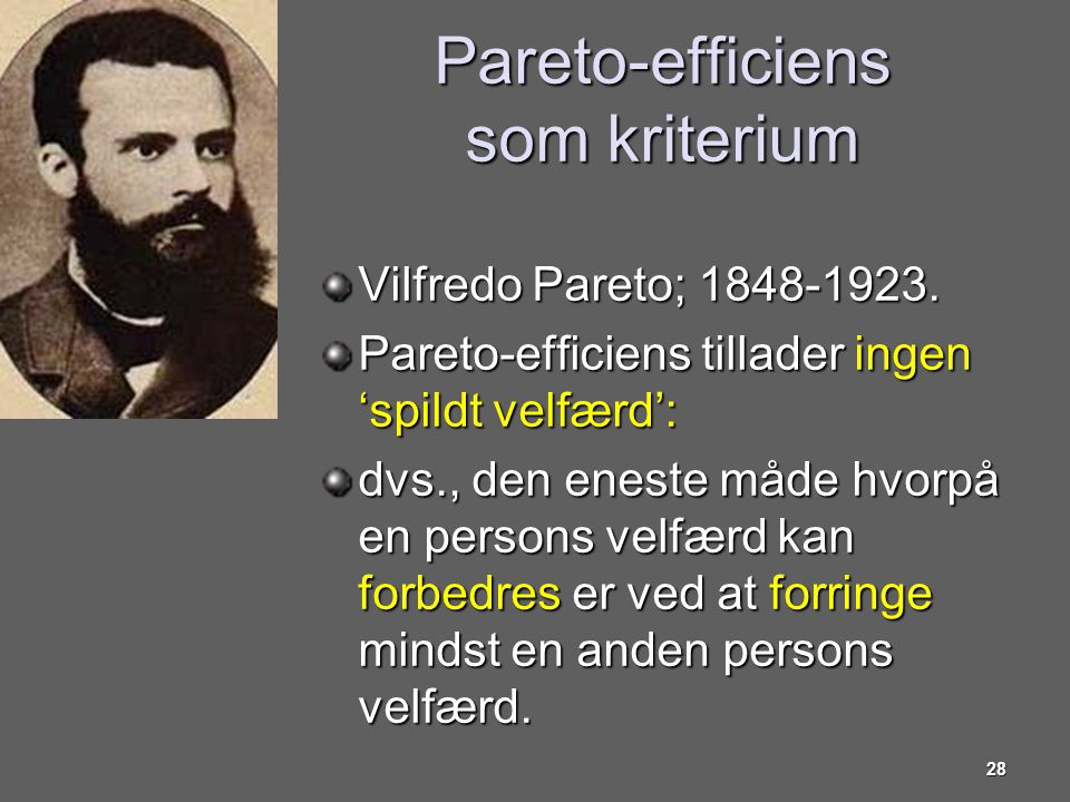 Pareto-efficiens som kriterium