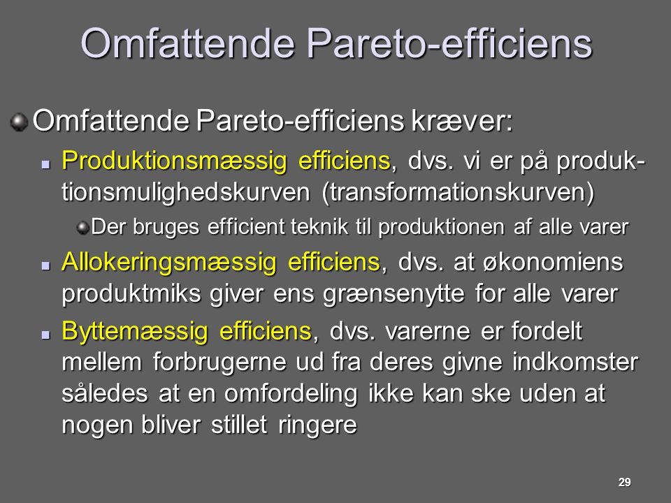 Omfattende Pareto-efficiens