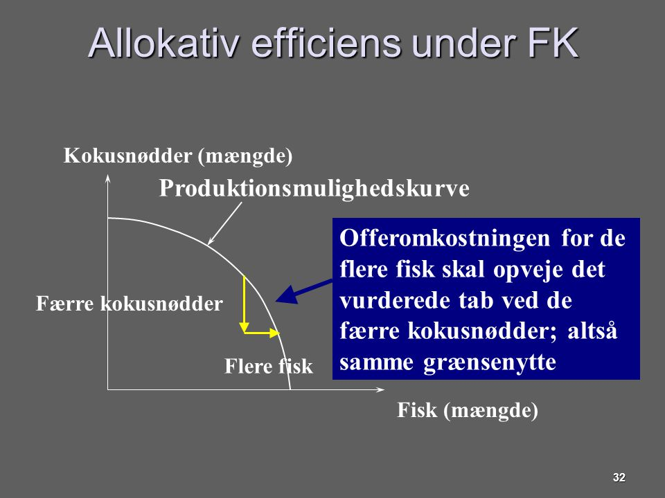 Allokativ efficiens under FK