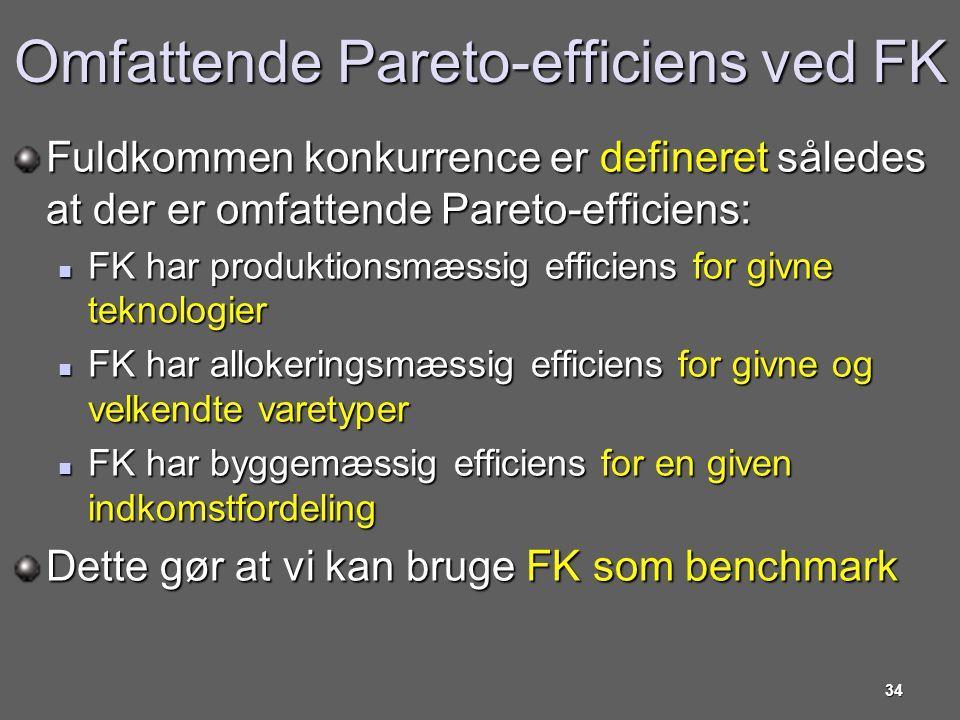 Omfattende Pareto-efficiens ved FK