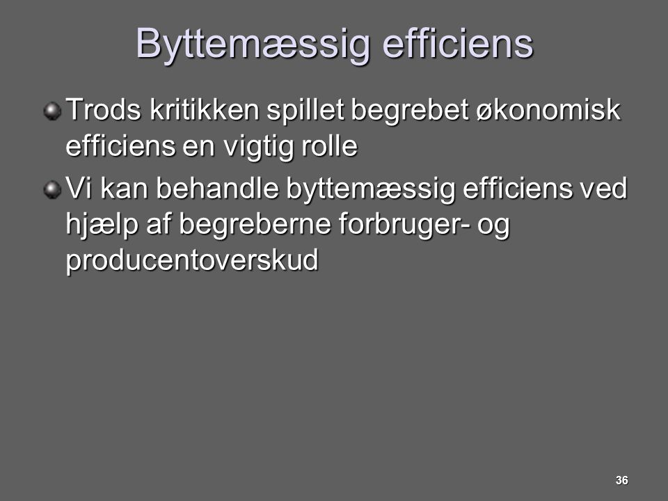 Byttemæssig efficiens