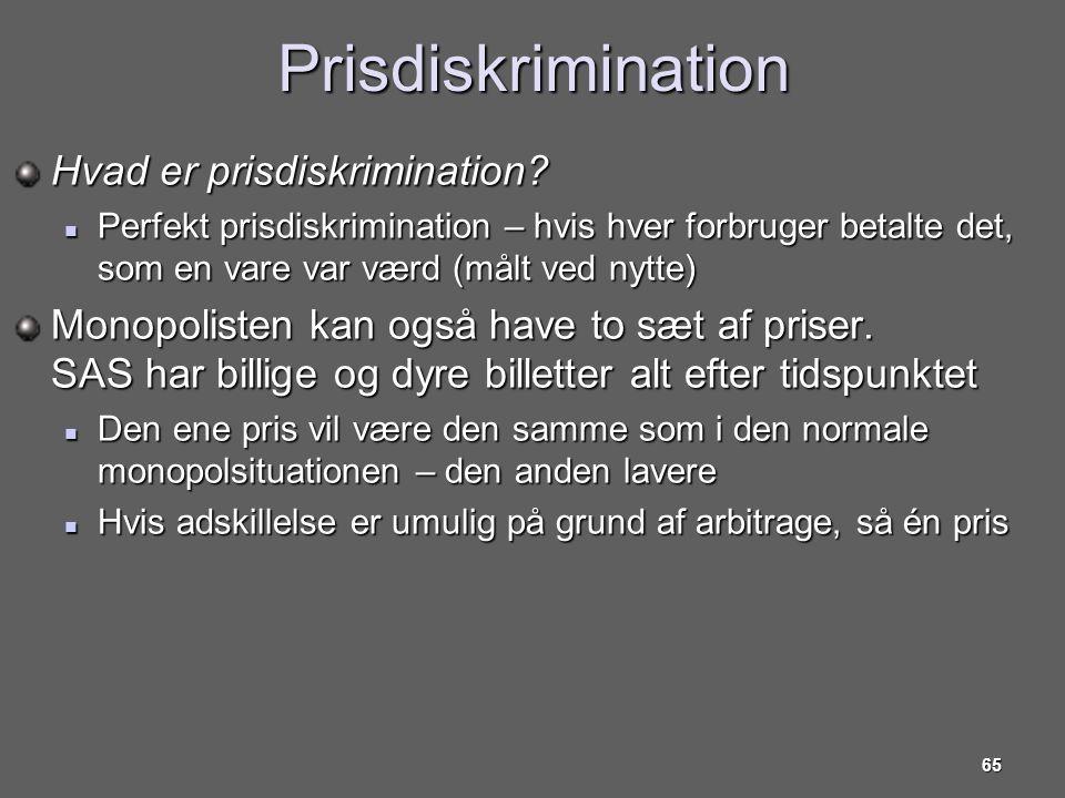 Prisdiskrimination Hvad er prisdiskrimination