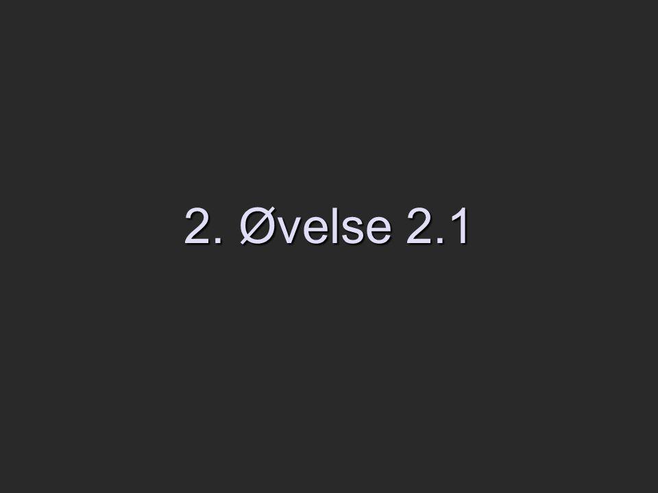 2. Øvelse 2.1