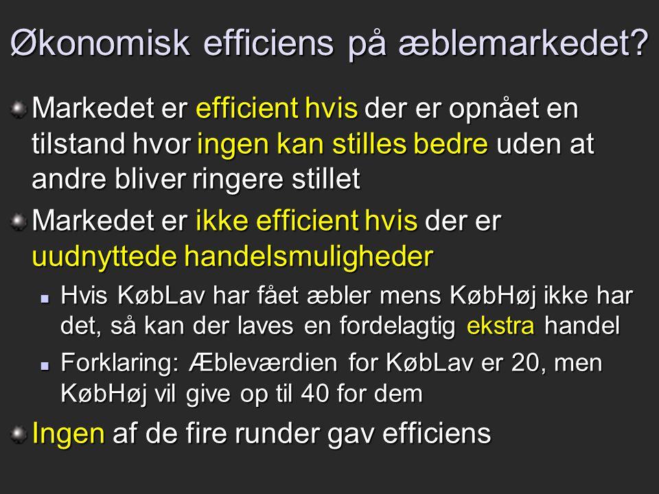 Økonomisk efficiens på æblemarkedet