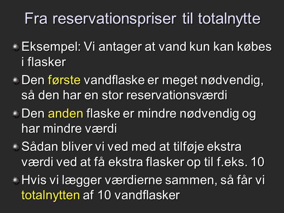Fra reservationspriser til totalnytte