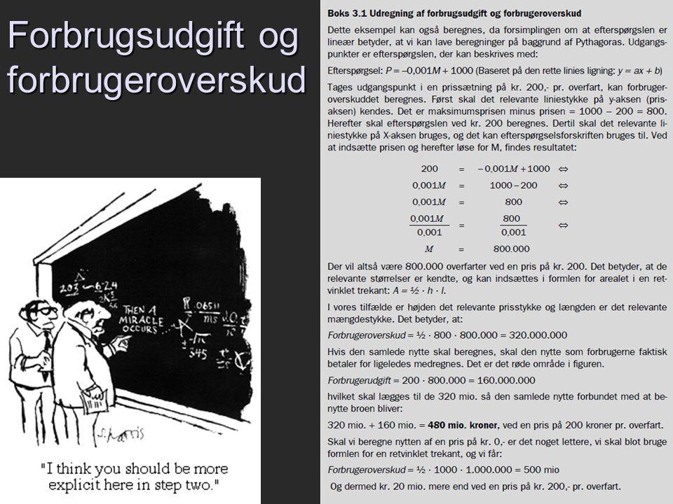 Forbrugsudgift og forbrugeroverskud