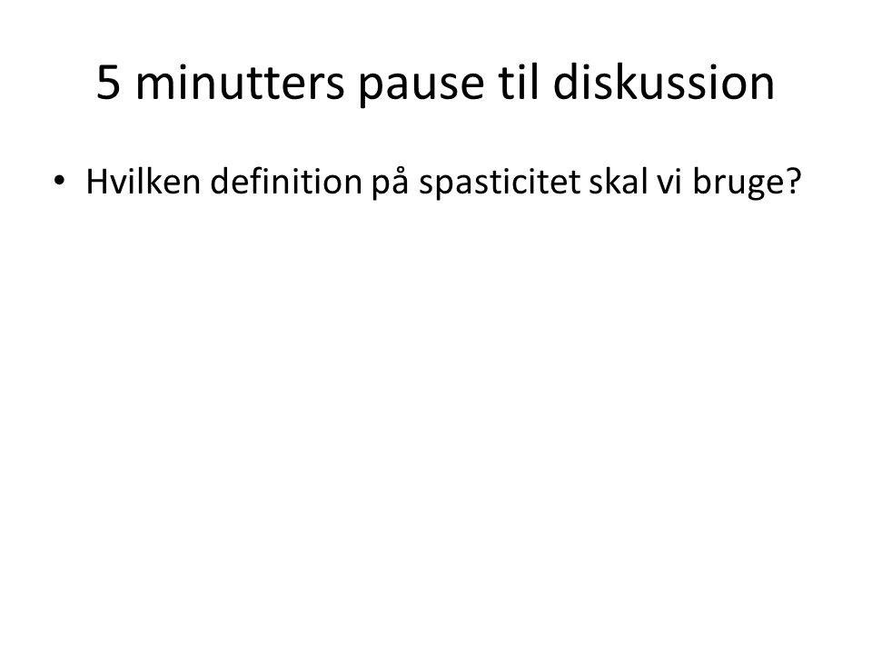 5 minutters pause til diskussion