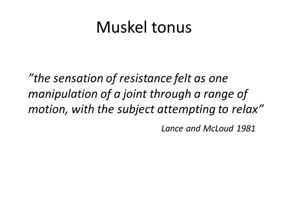 Muskel tonus
