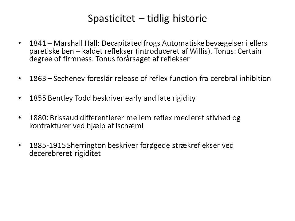 Spasticitet – tidlig historie