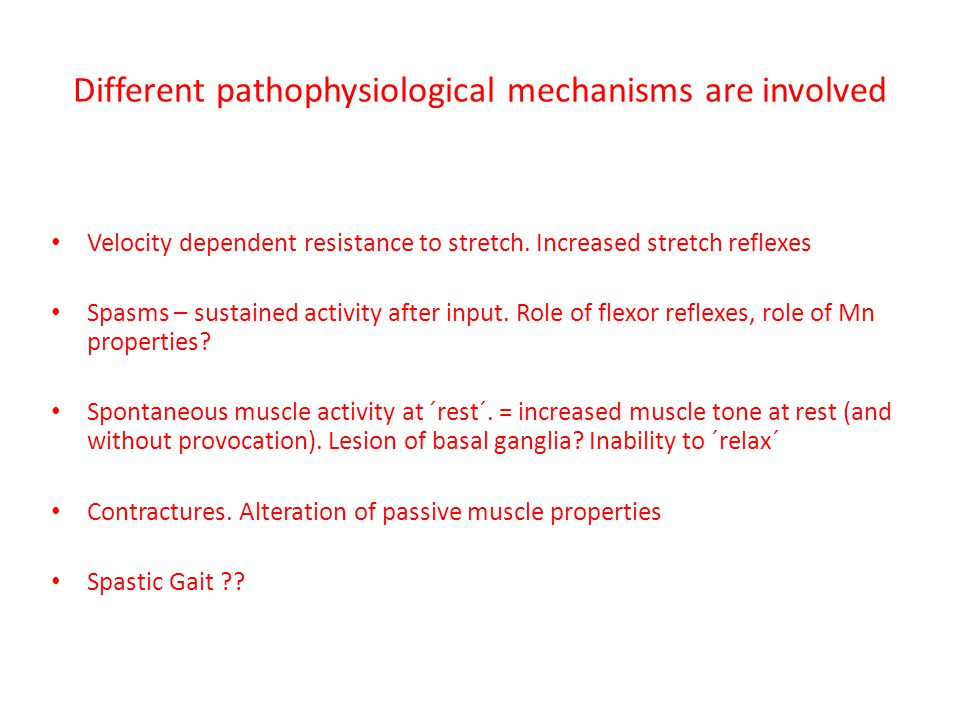 Different pathophysiological mechanisms are involved