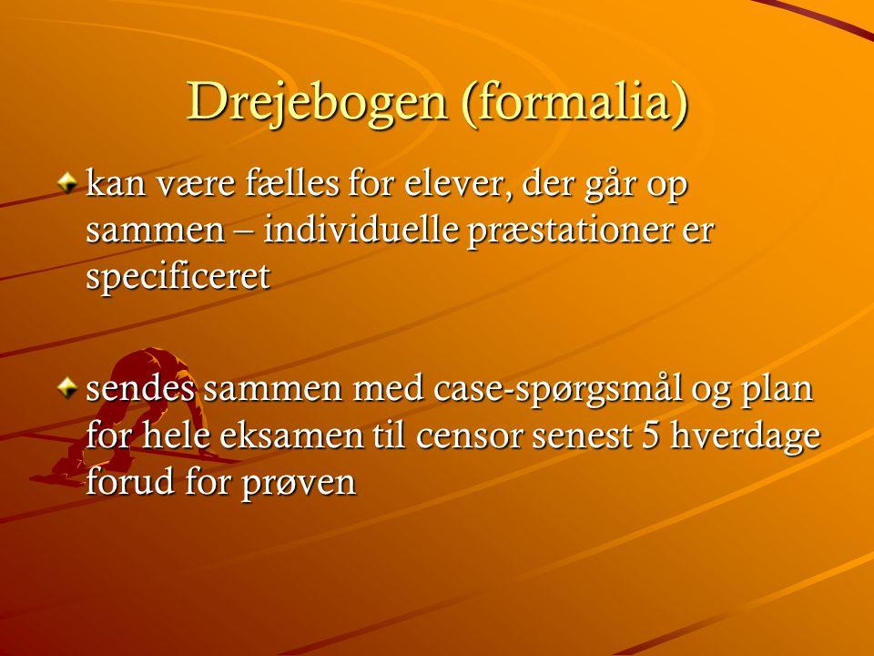 Drejebogen (formalia)