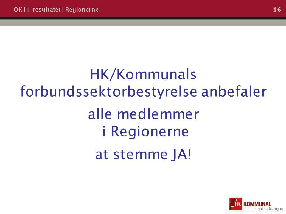 OK11–resultatet i Regionerne