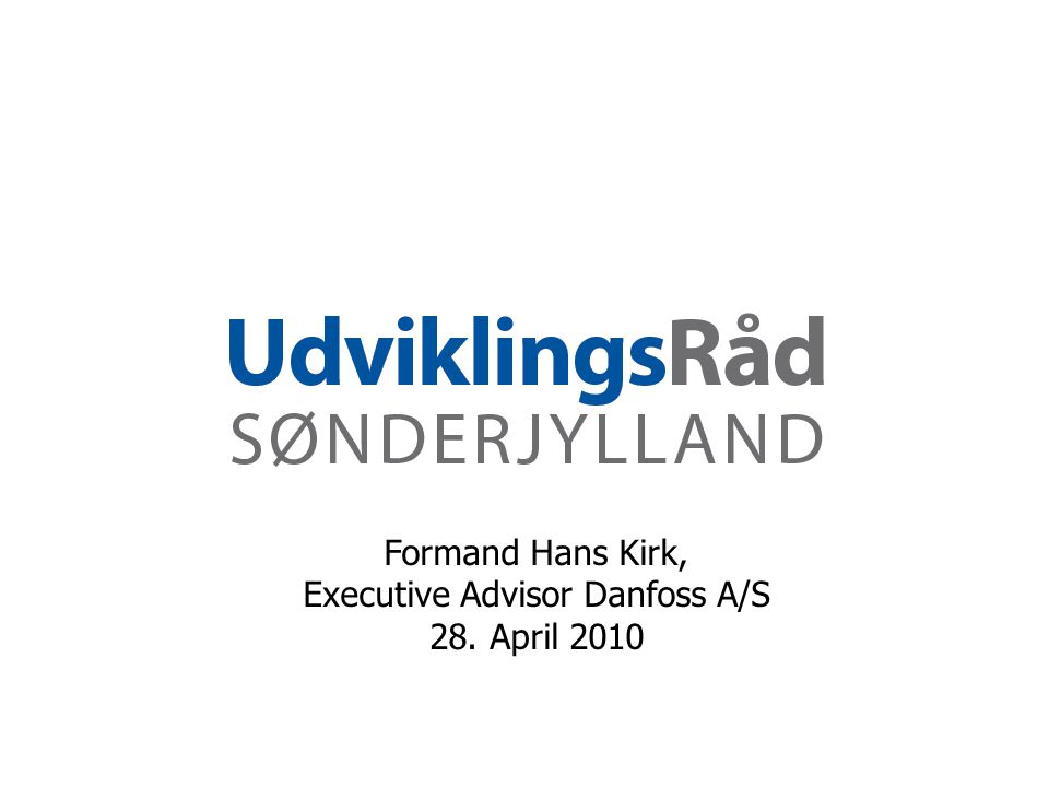 Executive Advisor Danfoss A/S