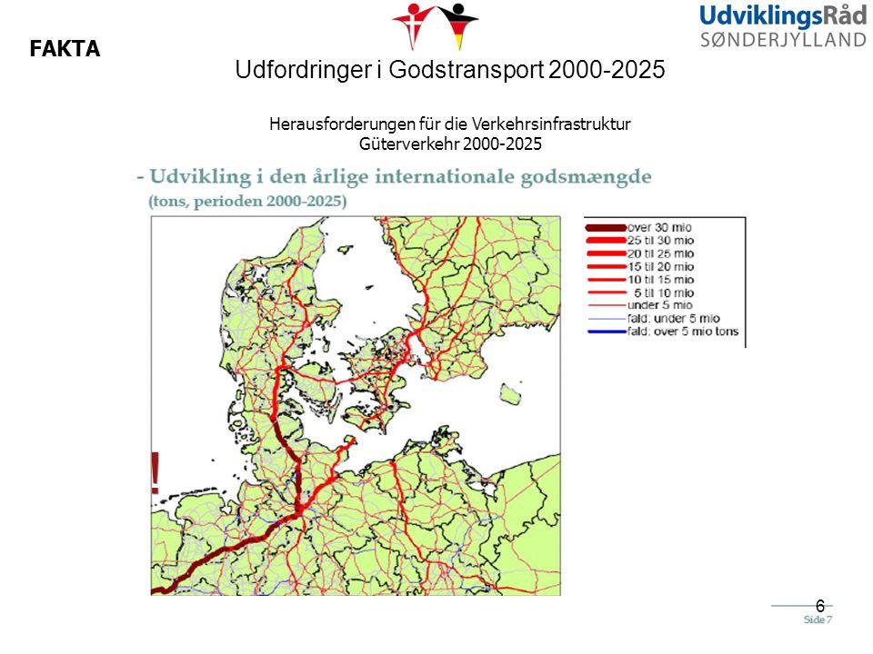! Udfordringer i Godstransport 2000-2025 FAKTA