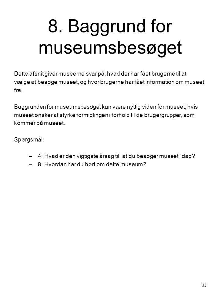 8. Baggrund for museumsbesøget