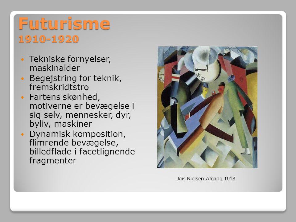 Futurisme 1910-1920 Tekniske fornyelser, maskinalder