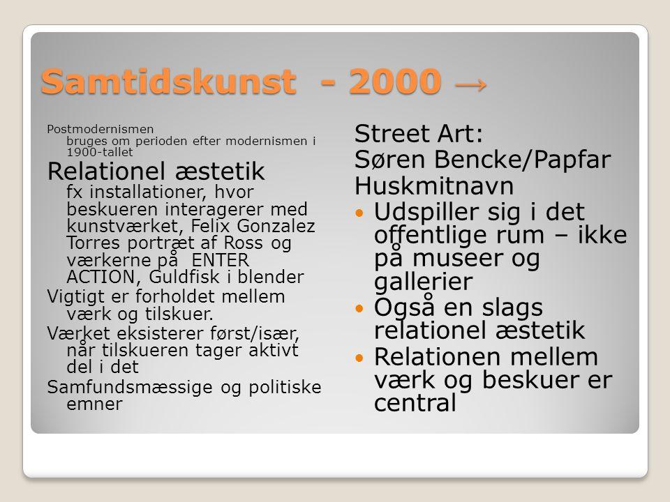Samtidskunst - 2000 → Street Art: Søren Bencke/Papfar
