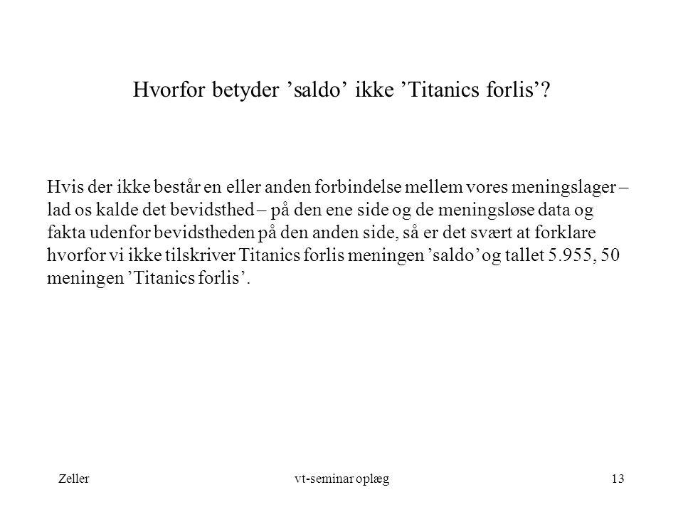 Hvorfor betyder 'saldo' ikke 'Titanics forlis'