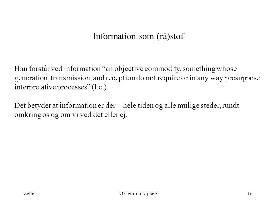 Information som (rå)stof