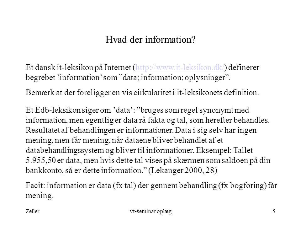 Hvad der information