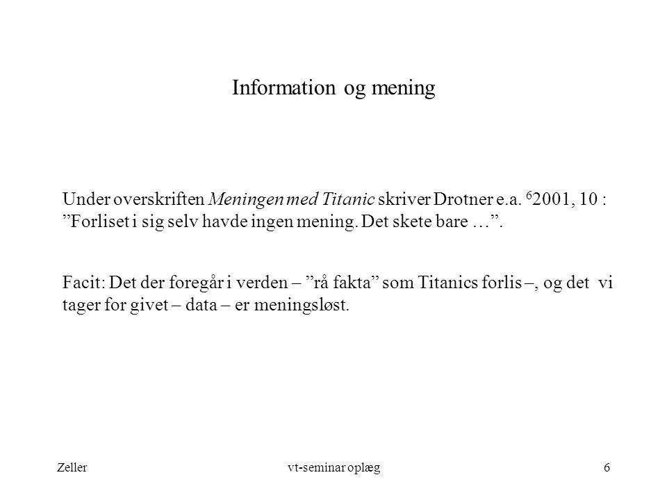 Information og mening