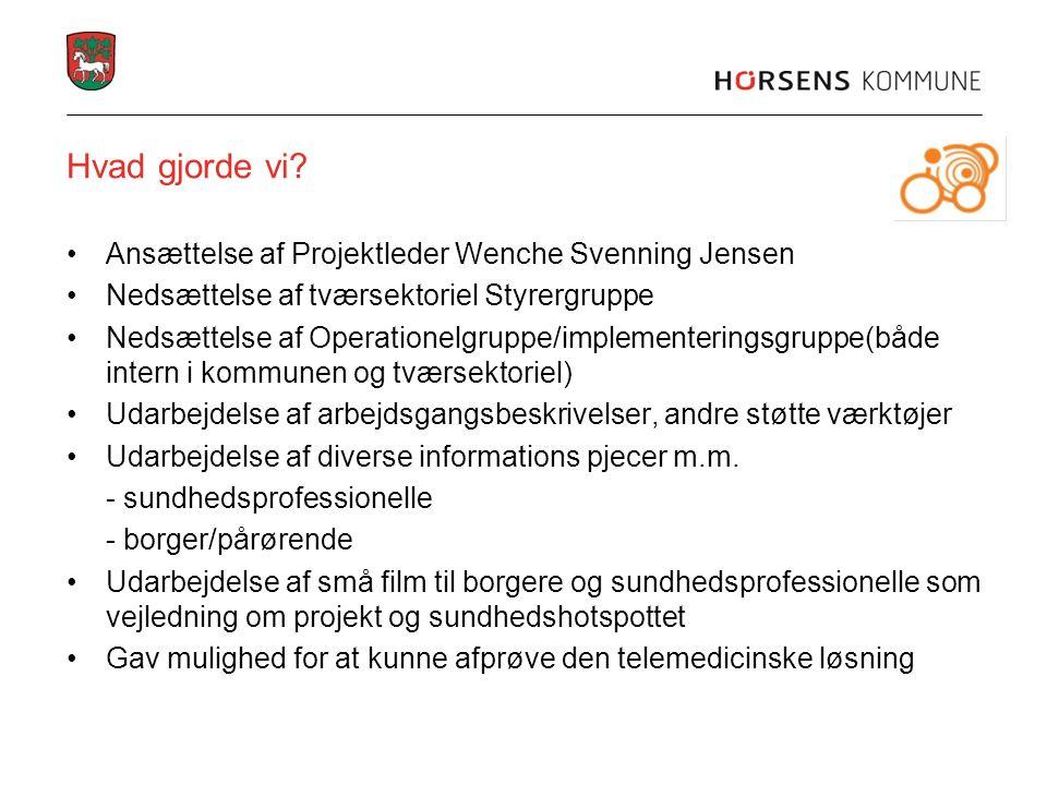 Hvad gjorde vi Ansættelse af Projektleder Wenche Svenning Jensen