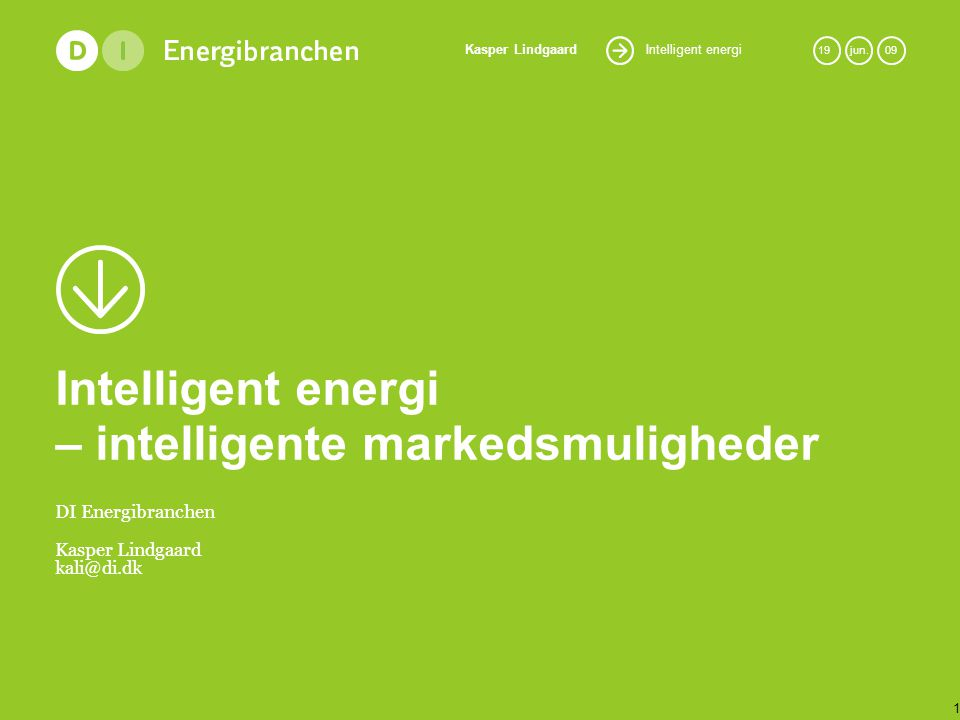 Intelligent energi – intelligente markedsmuligheder