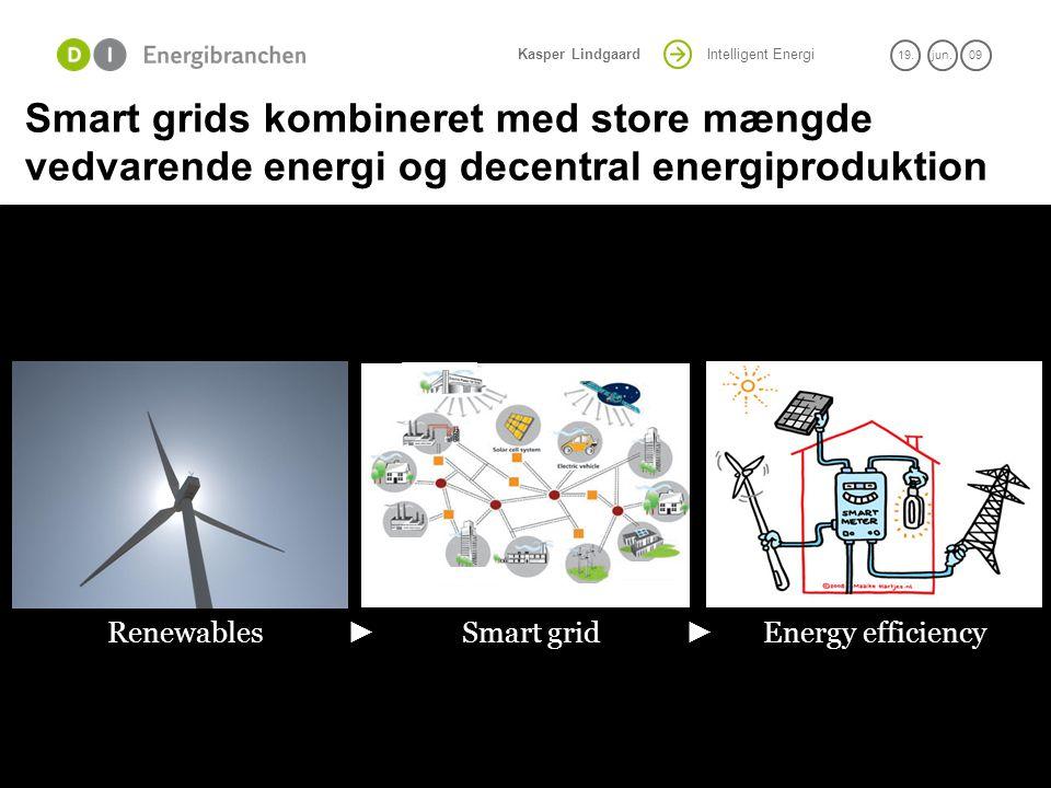 Smart grids kombineret med store mængde vedvarende energi og decentral energiproduktion