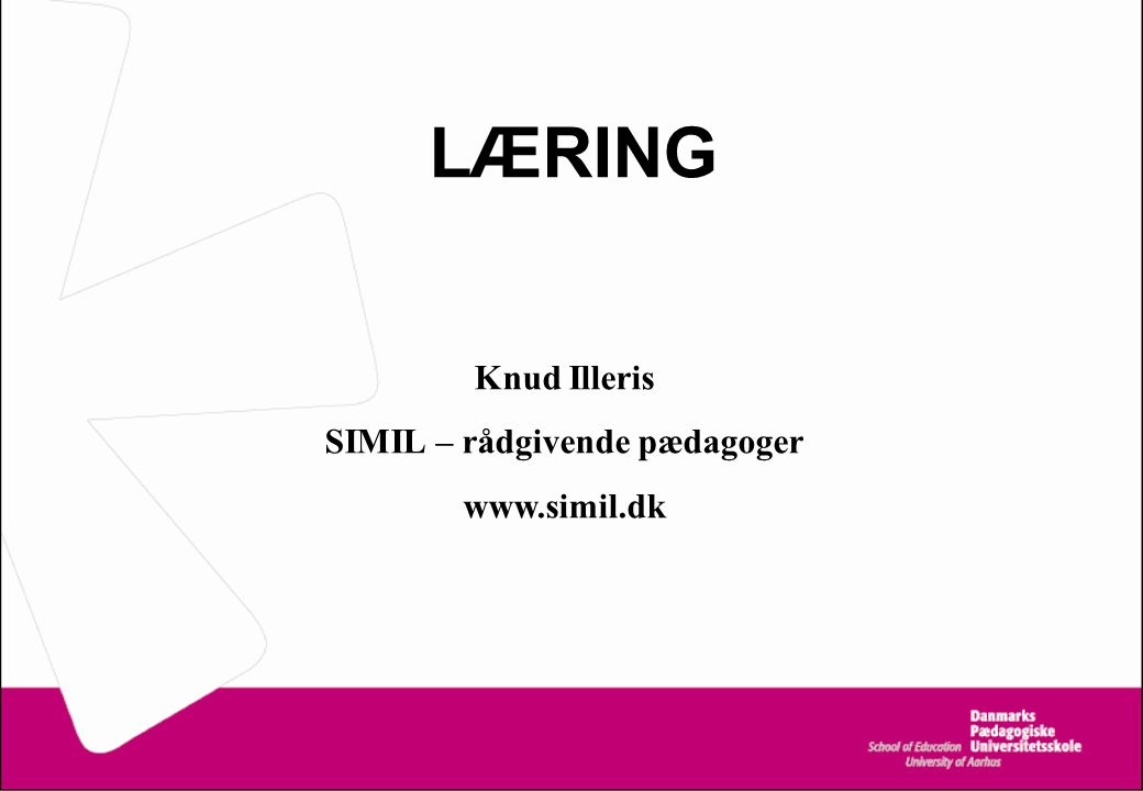 SIMIL – rådgivende pædagoger