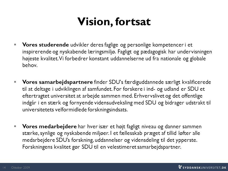Vision, fortsat
