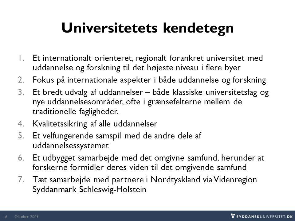 Universitetets kendetegn