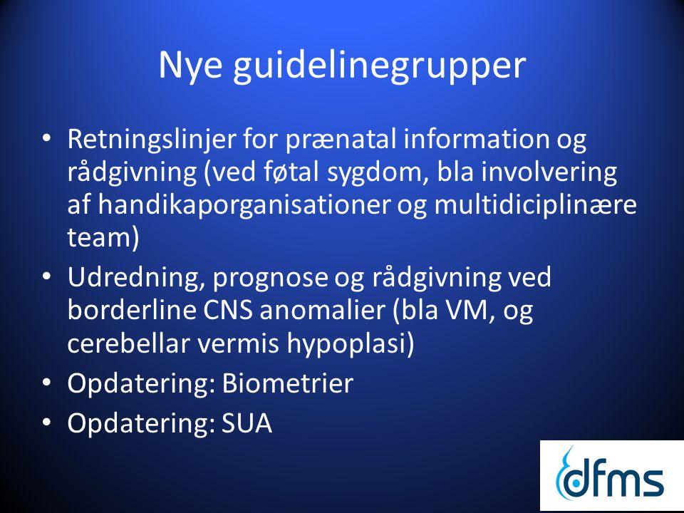 Nye guidelinegrupper