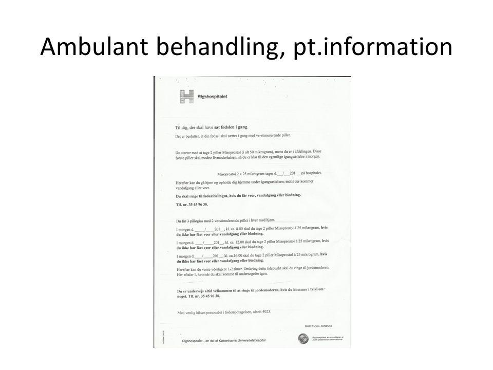 Ambulant behandling, pt.information