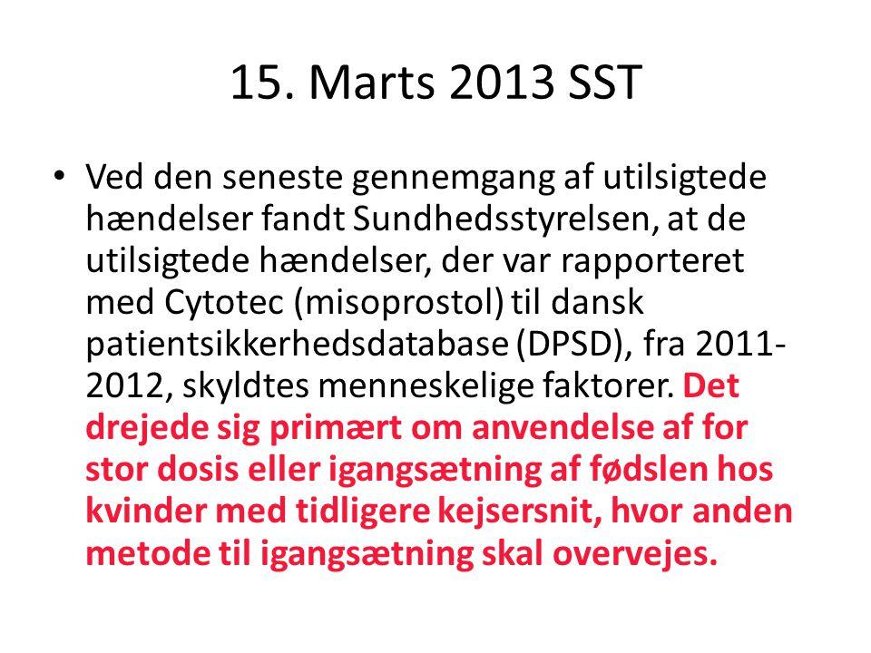 15. Marts 2013 SST