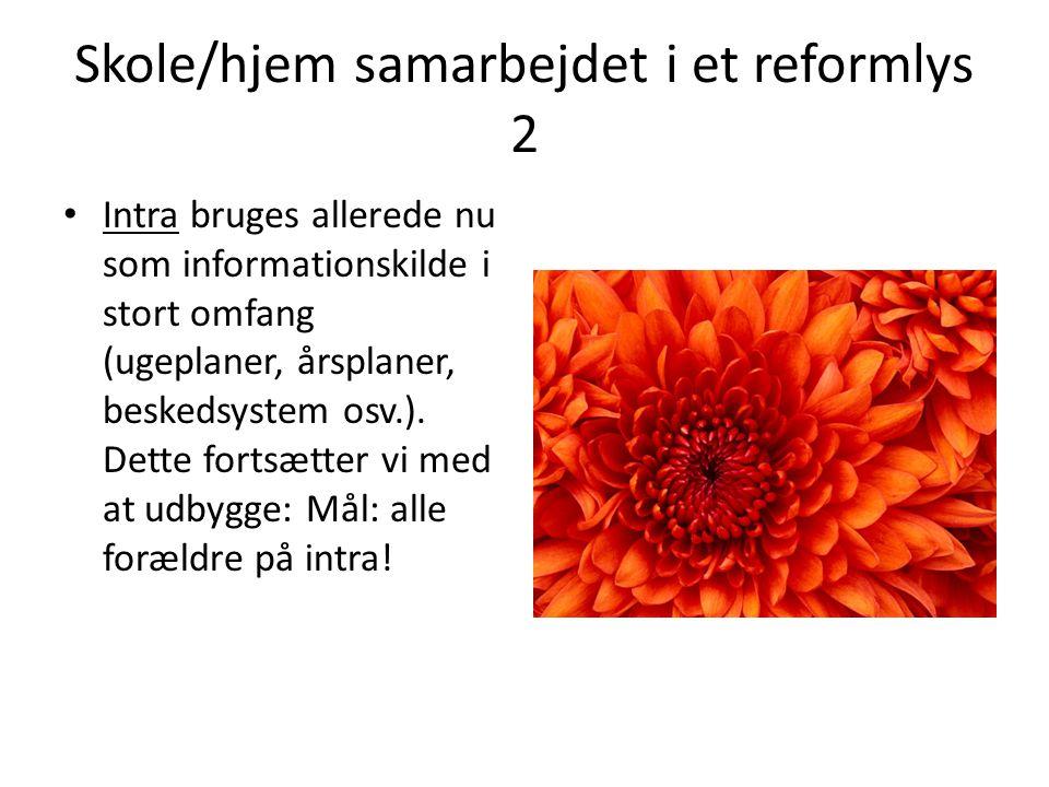 Skole/hjem samarbejdet i et reformlys 2