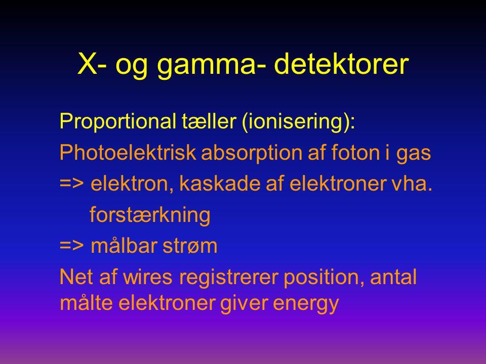 X- og gamma- detektorer