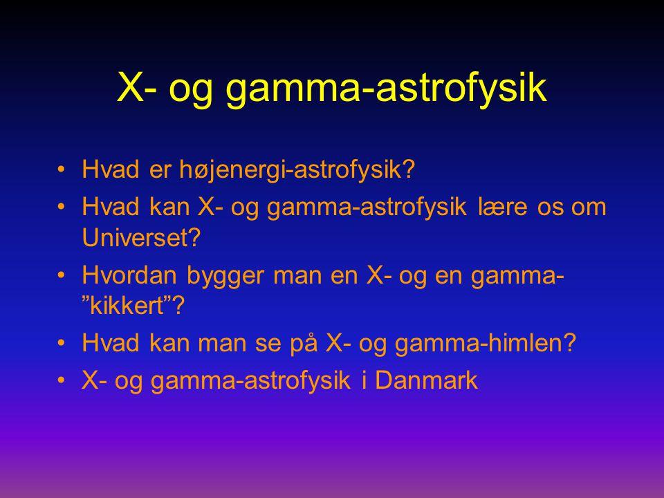 X- og gamma-astrofysik