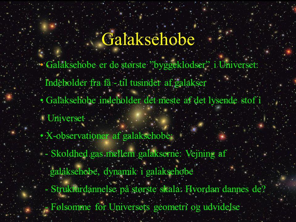 Galaksehobe Galaksehobe er de største byggeklodser i Universet: