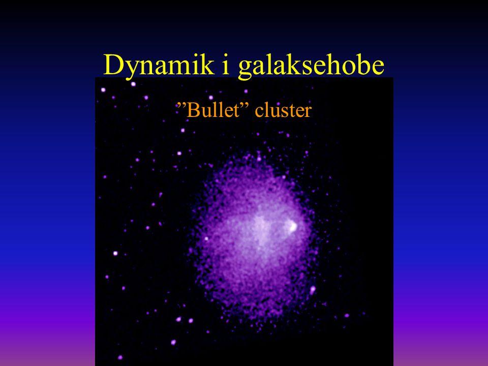 Dynamik i galaksehobe Bullet cluster