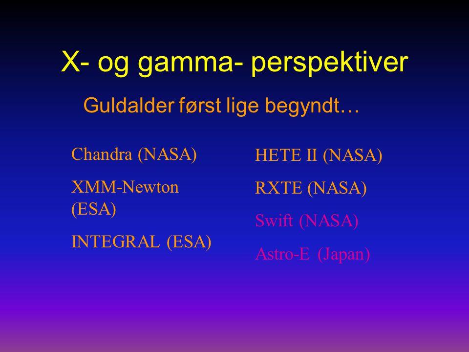 X- og gamma- perspektiver