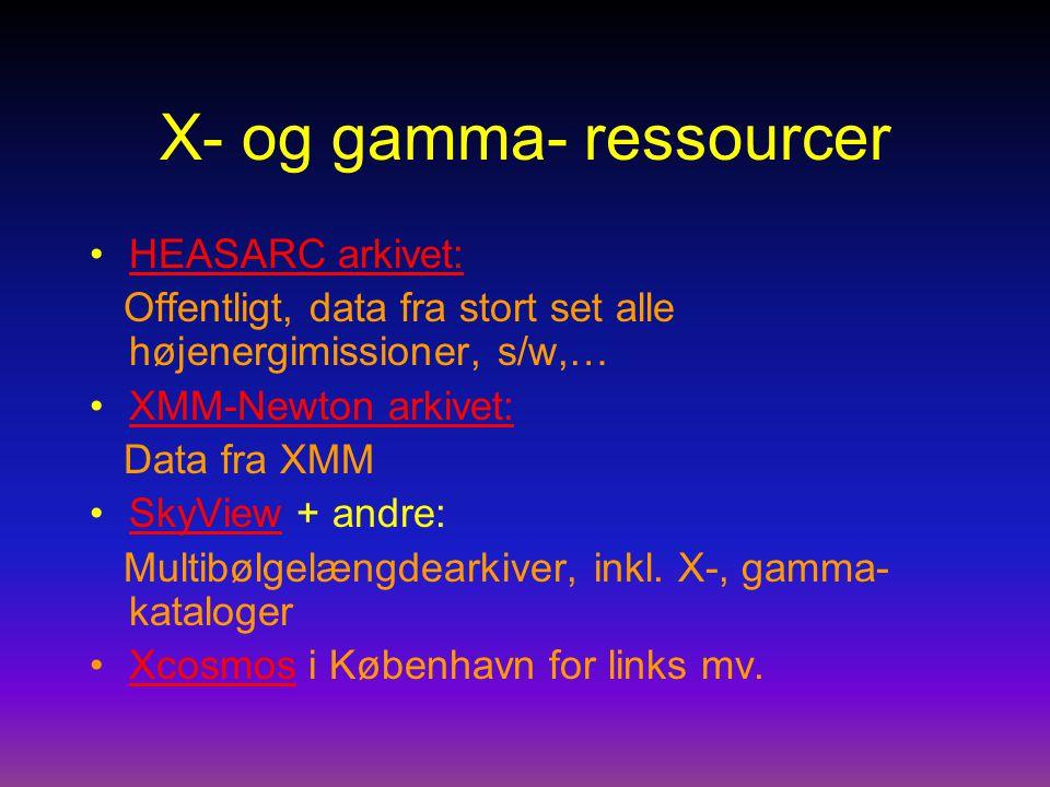 X- og gamma- ressourcer