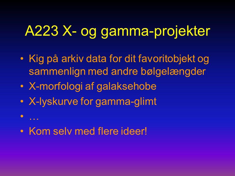 A223 X- og gamma-projekter