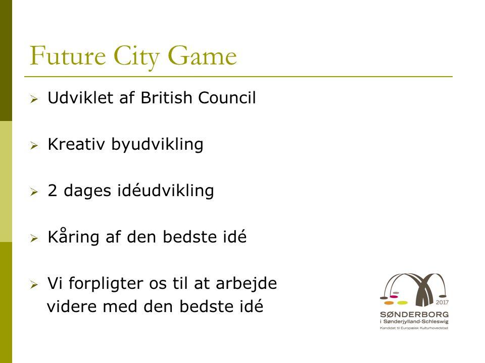 Future City Game Udviklet af British Council Kreativ byudvikling
