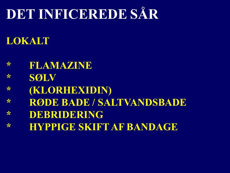 DET INFICEREDE SÅR LOKALT * FLAMAZINE * SØLV * (KLORHEXIDIN)
