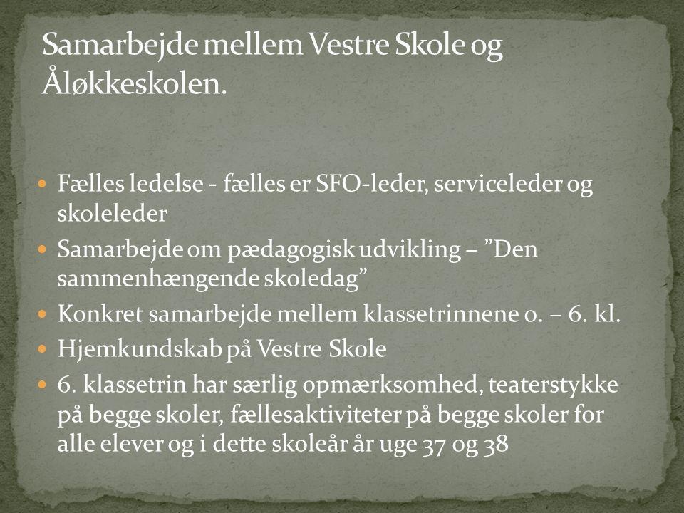 Samarbejde mellem Vestre Skole og Åløkkeskolen.
