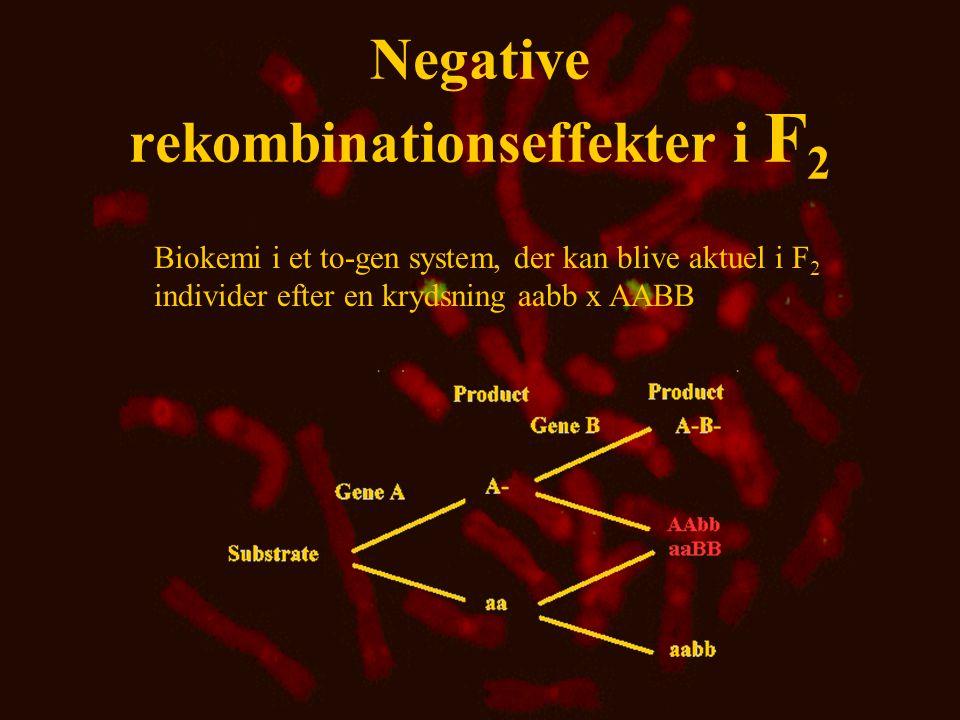 Negative rekombinationseffekter i F2