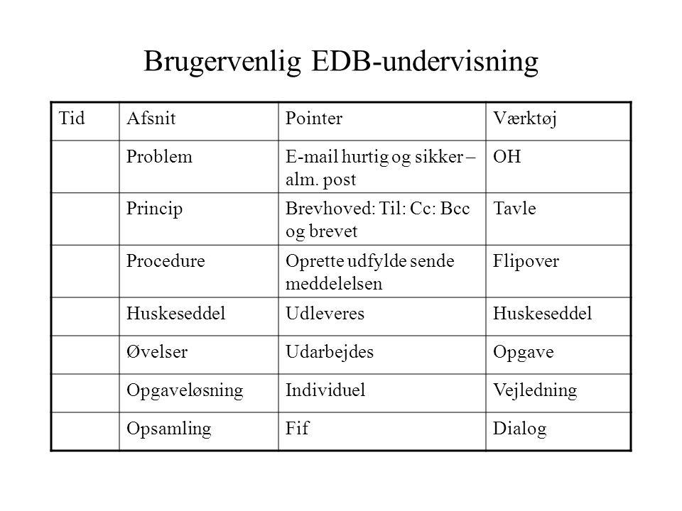 Brugervenlig EDB-undervisning