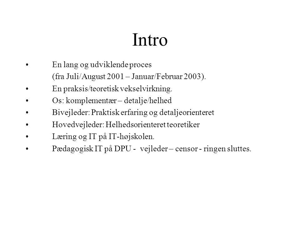 Intro En lang og udviklende proces
