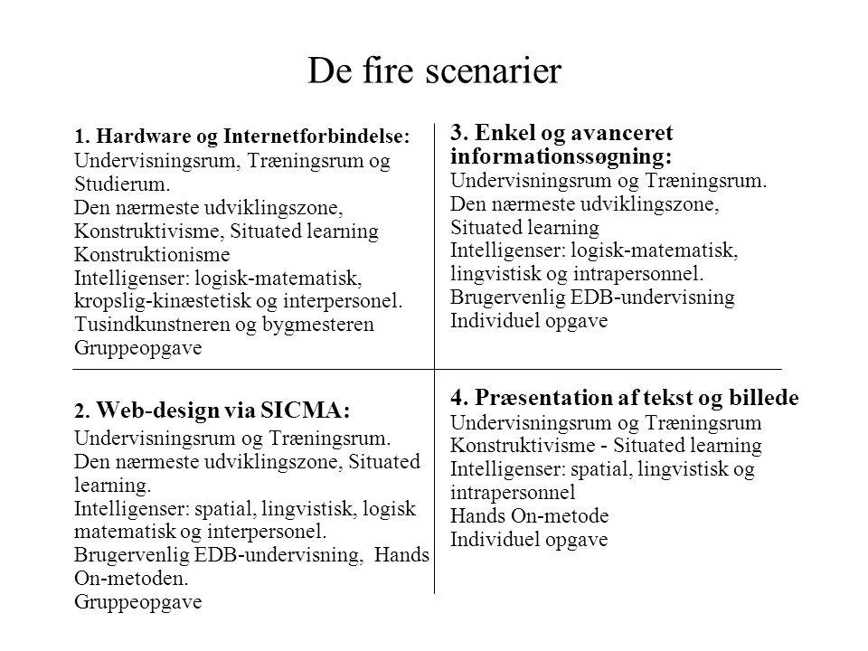 De fire scenarier 3. Enkel og avanceret informationssøgning: